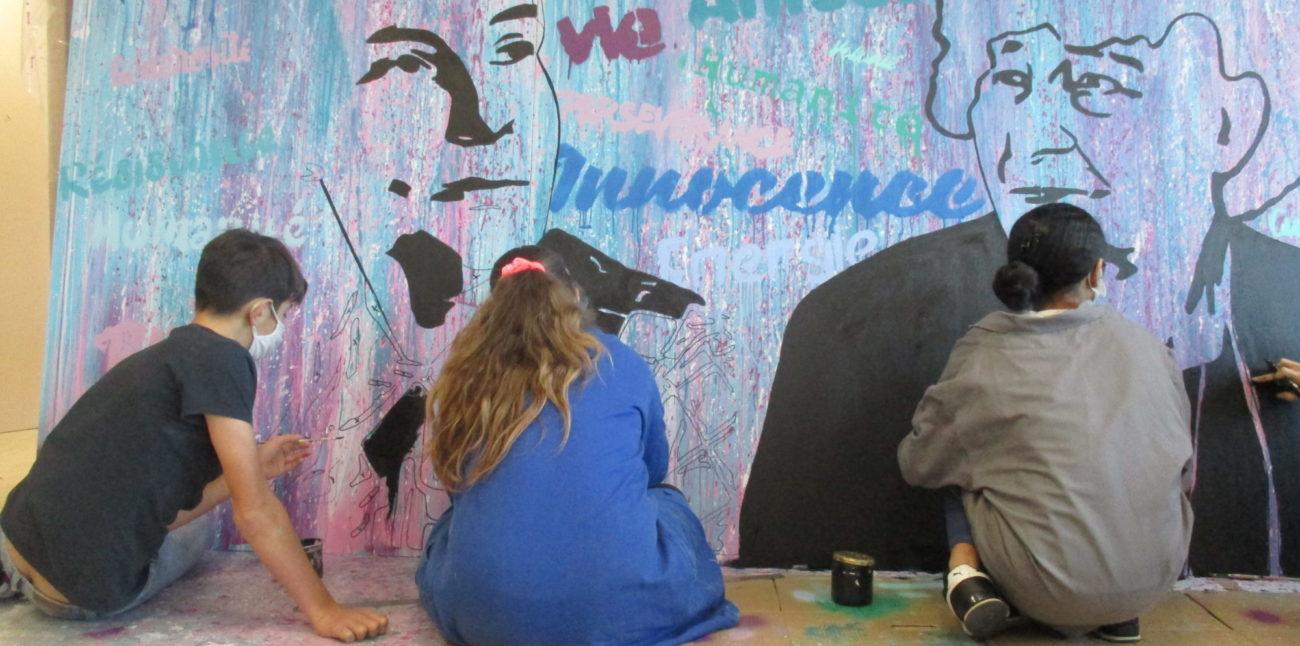 Réalisation de la peinture murale faite par des élèves du collège Sabine Zlatin de Belley. © collège Sabine Zlatin de Belley