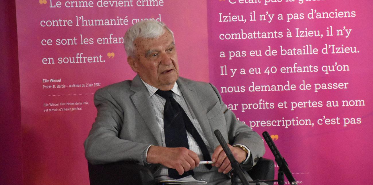 Colloque « Psychotrauma et soins », dimanche 30 mai 2021. Jacques Védrinne, professeur, président d'honneur du colloque. © Maison d'Izieu