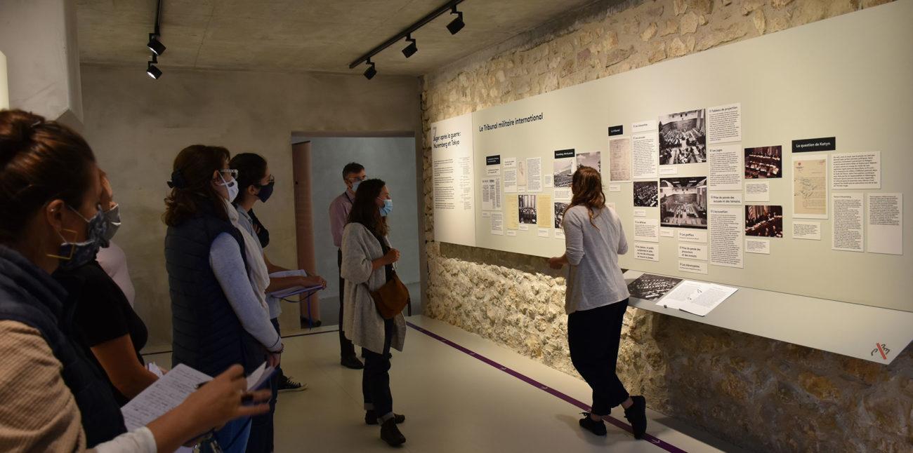 Les médiatrices du barrage de Genissiat en visite à la Maison d'Izieu © Maison d'Izieu