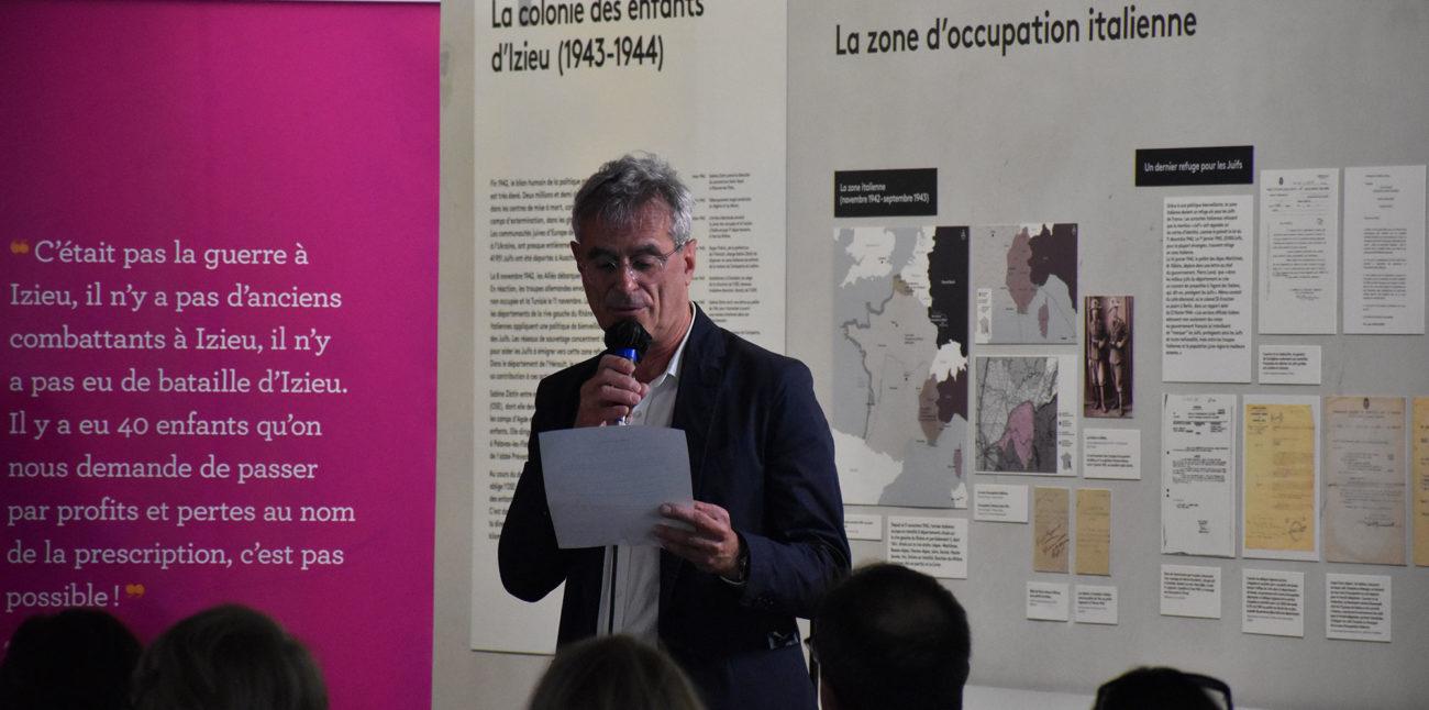 Colloque « Psychotrauma et soins », dimanche 30 mai 2021. Dominique Vidaud, directeur de la Maison d'Izieu. © Maison d'Izieu