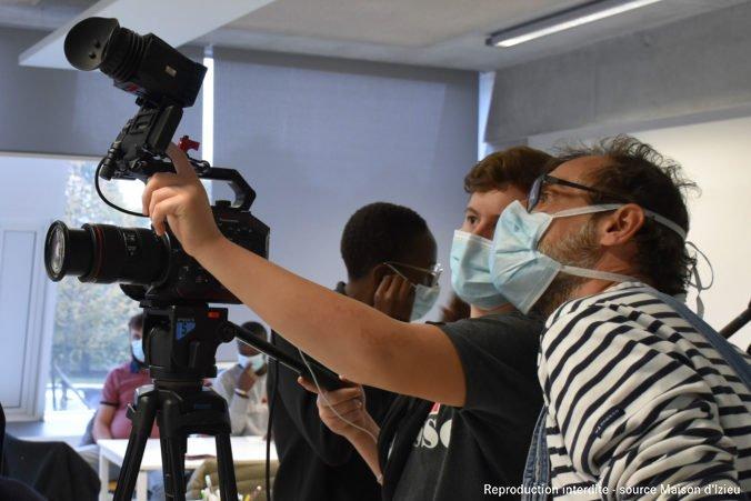 C'est MON patrimoine 2020, atelier vidéo avec Fabrice Chiambretto © Maison d'Izieu