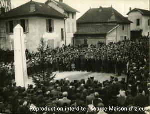 Inauguration de la stèle à Brégnier-Cordon.